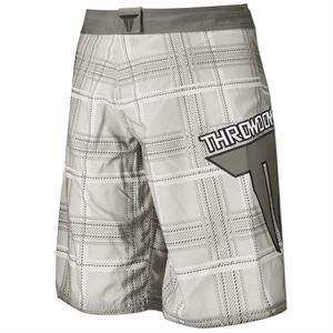 White Plaid Board Shorts